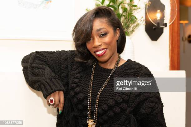 Singer Estelle poses for a photo before her performance at The Jane Club on December 4, 2018 in Los Angeles, California.