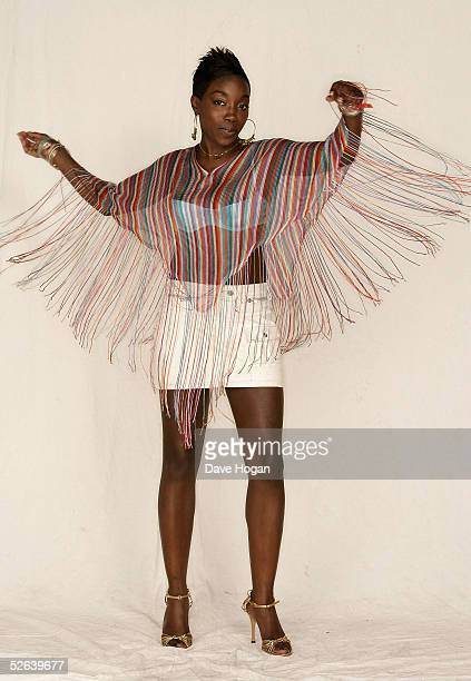Singer Estelle poses in the studio backstage at The Nokia Urban Music Festival With The Prince's Trust at Earl's Court on April 16, 2005 in London....