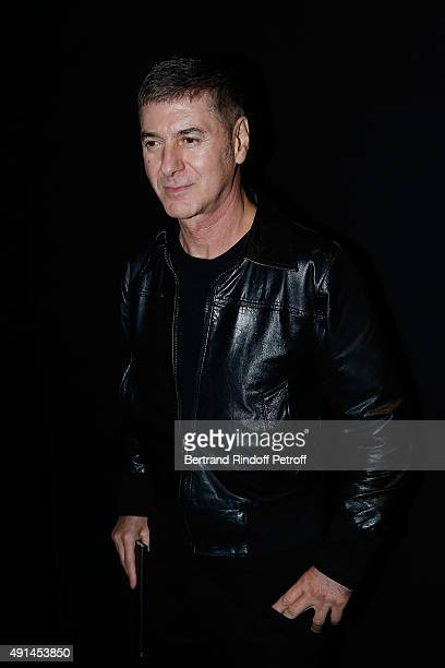 Singer Etienne Daho attends the Saint Laurent show as part of the Paris Fashion Week Womenswear Spring/Summer 2016 on October 5 2015 in Paris France