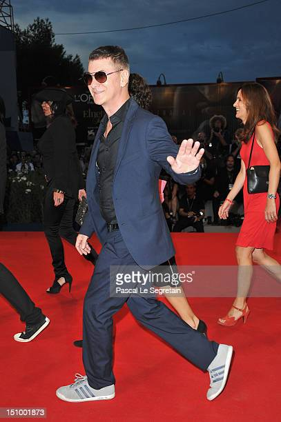 Singer Etienne Daho attends the 'Superstar' premiere during the 69th Venice Film Festival at the Palazzo del Cinema on August 30 2012 in Venice Italy