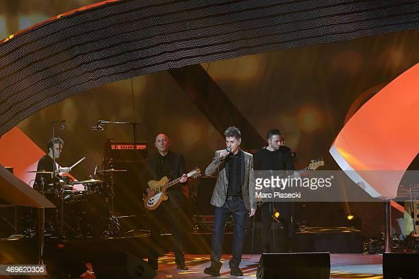 Singer Etienne Daho performs during the 'Les Victoires de la musique 2014' ceremony at Le Zenith on February 14 2014 in Paris France