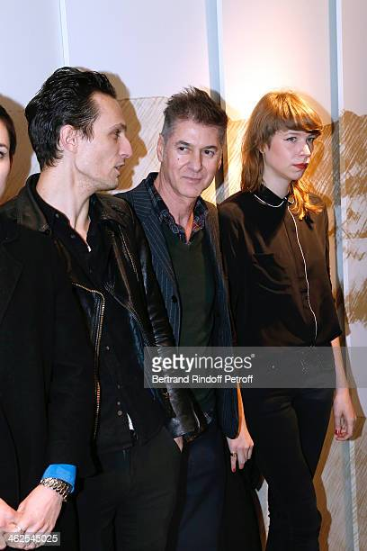 Singer Etienne Daho with his sponsored actors at the Chaumet's Cocktail Party for Cesar's Revelations 2014 at Musee Chaumet followed by a dinner at...