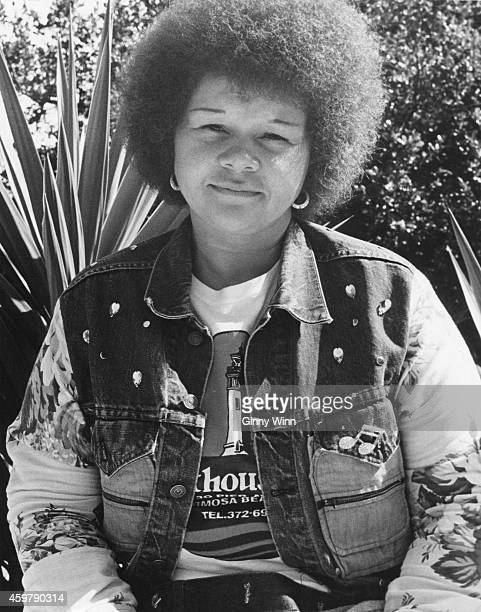 Singer Etta James backstage at Grateful Dead concert May 25 1974 in Santa Barbara California