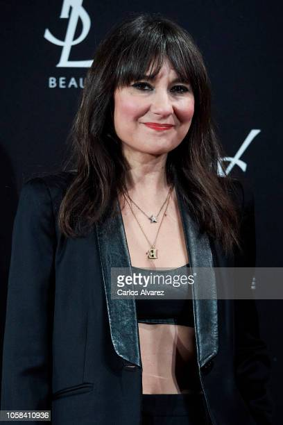 Singer Eva Amaral attends 'YSL Beaute THE SLIM Rouge PurCouture' party at the Santona Palace on November 6 2018 in Madrid Spain