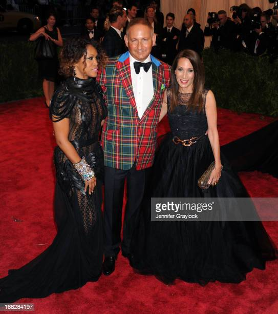 Singer Eve and John Demsey attend the Costume Institute Gala for the PUNK Chaos to Couture exhibition at the Metropolitan Museum of Art on May 6 2013...