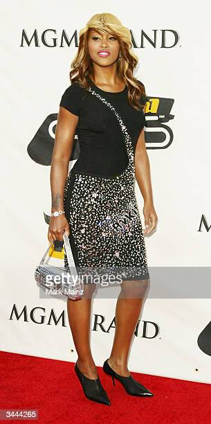 Singer Eve attends the 7th Annual VH1 Divas Concert Benefiting The Save The Music Foundation at the MGM Grand Garden Arena April 18 2004 in Las Vegas...