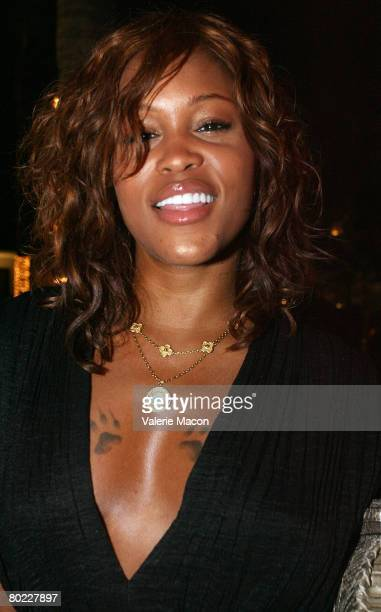 Singer Eve attends the Christian Siriano Dinner at the Hollywood Roosvelt Hotel on March 12 2008 in Hollywood California