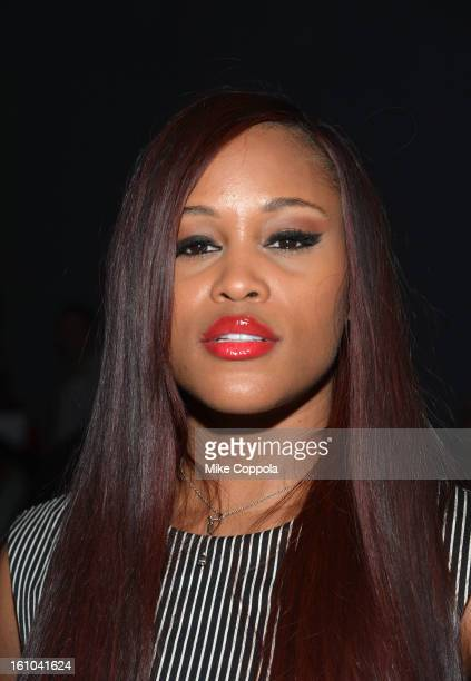 Singer Eve attends the Nicole Miller Fall 2013 fashion show during MercedesBenz Fashion Week at The Studio at Lincoln Center on February 8 2013 in...