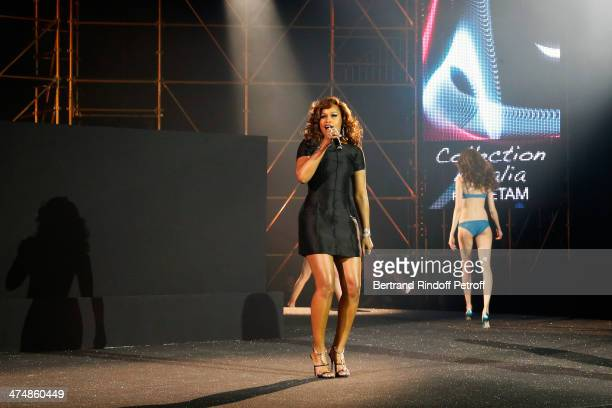 Singer Eve performs during the ETAM show as part of the Paris Fashion Week Womenswear Fall/Winter 20142015 on February 25 2014 in Paris France