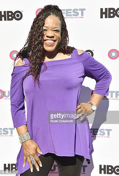 Singer Evelyn Champagne King attends 2016 Outfest Los Angeles LGBT Film Festival screening of Jewels Catch One at Harmony Gold Theatre on July 10...