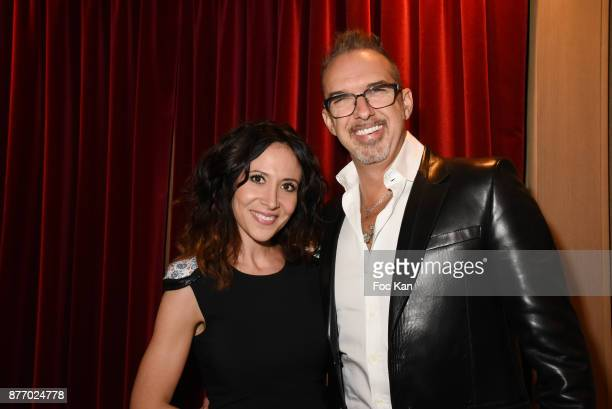 Singer Fabienne Carat and director Lewis Martin attend 'Attitude Luxe' Magazine December 2017 Launch Cocktail at Hotel Plazza Athenee on November 20...