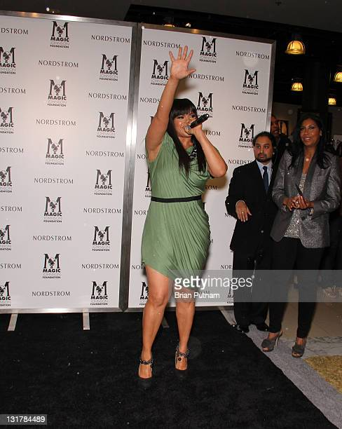 Singer Faith Evans attends NBA All-Star Kickoff Private Shopping Benefit at Nordstrom at the Grove on February 18, 2011 in Los Angeles, California.