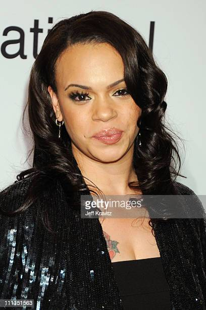 Singer Faith Evans attends the 2009 GRAMMY Salute to Icons honoring Clive Davis at the Beverly Hilton Hotel on February 7 2009 in Beverly Hills...