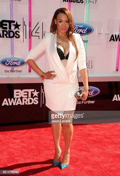 Singer Faith Evans attends the 2014 BET Awards at Nokia Plaza LA LIVE on June 29 2014 in Los Angeles California