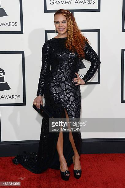 Singer Faith Evans attends the 56th GRAMMY Awards at Staples Center on January 26 2014 in Los Angeles California