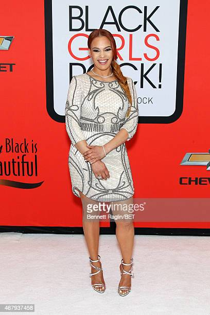 Singer Faith Evans attends the BET's Black Girls Rock Red Carpet sponsored by Chevrolet at NJPAC – Prudential Hall on March 28 2015 in Newark New...