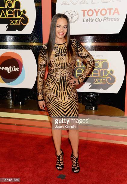 Singer Faith Evans attends the Soul Train Awards 2013 at the Orleans Arena on November 8 2013 in Las Vegas Nevada
