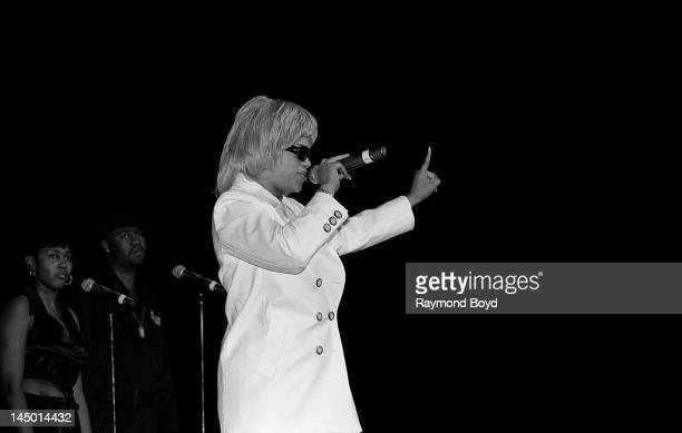Singer Faith Evans performs at the Regal Theater in Chicago Illinois in AUGUST 1995