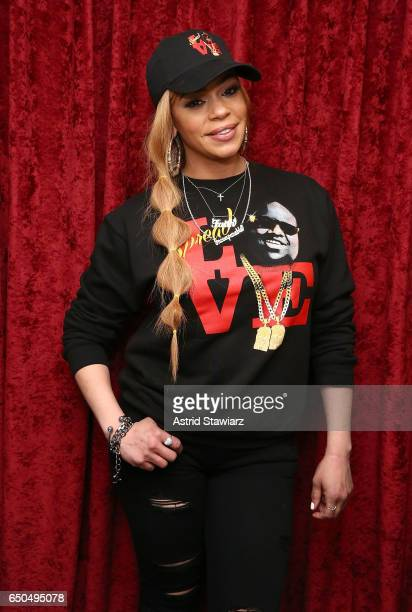 Singer Faith Evans visits the SiriusXM Studios on March 9 2017 in New York City