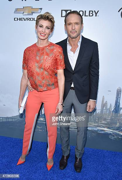 Singer Faith Hill and actor/singer Tim McGraw attend the premiere of Disney's Tomorrowland at AMC Downtown Disney 12 Theater on May 9 2015 in Anaheim...