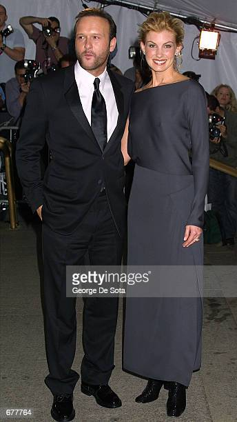 Singer Faith Hill and husband Tim McGraw attend The Costume Institute Gala to celebrate the clothes of Jacqueline Kennedy April 23 2001 at the...