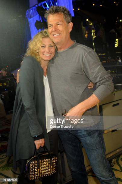 Singer Faith Hill and producer/composer David Foster at the 14th annual Andre Agassi Foundation for Education's Grand Slam for Children benefit...