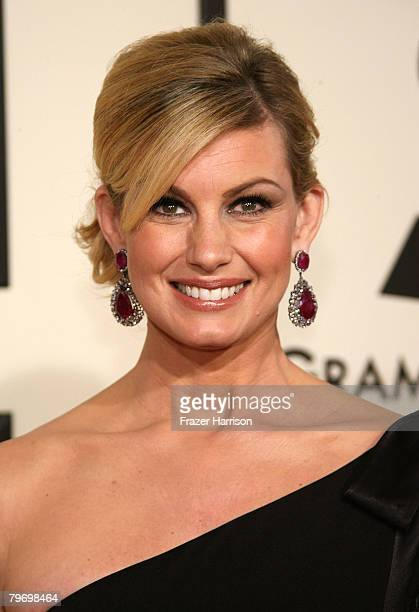 Singer Faith Hill arrives at the 50th annual Grammy awards held at the Staples Center on February 10 2008 in Los Angeles California