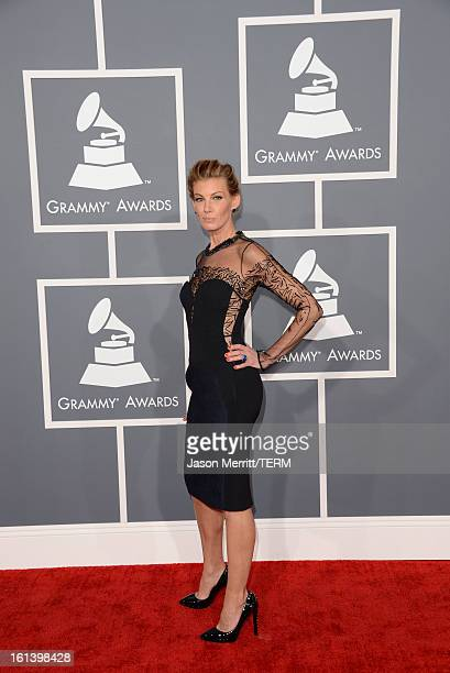 Singer Faith Hill arrives at the 55th Annual GRAMMY Awards at Staples Center on February 10 2013 in Los Angeles California