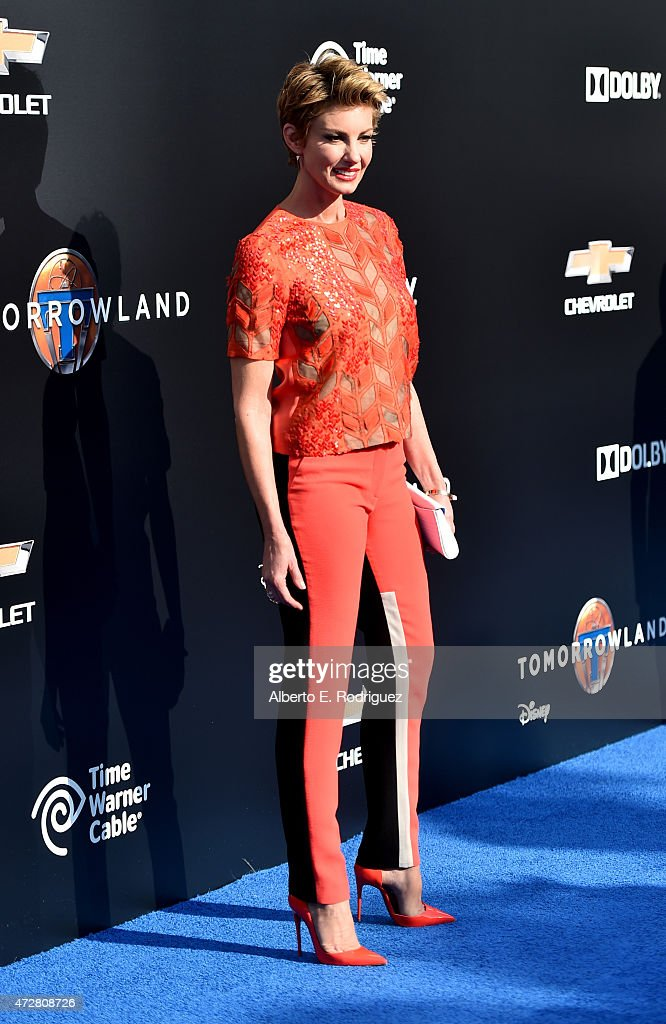 Singer Faith Hill attends the world premiere of Disney's 'Tomorrowland' at Disneyland, Anaheim on May 9, 2015 in Anaheim, California.