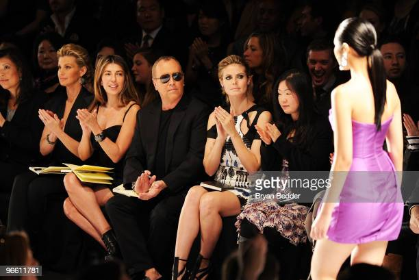 Singer Faith Hill Fashion Director of Elle and Marie Claire Nina Garcia designer Michael Kors and model Heidi Klum attend Project Runway Fall 2010...