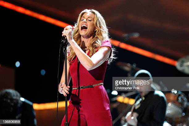 Singer Faith Hill performs onstage at the 2012 People's Choice Awards at Nokia Theatre LA Live on January 11 2012 in Los Angeles California