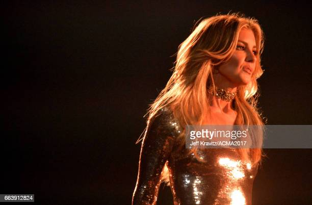 Singer Faith Hill performs onstage at the 52nd Academy Of Country Music Awards at TMobile Arena on April 2 2017 in Las Vegas Nevada