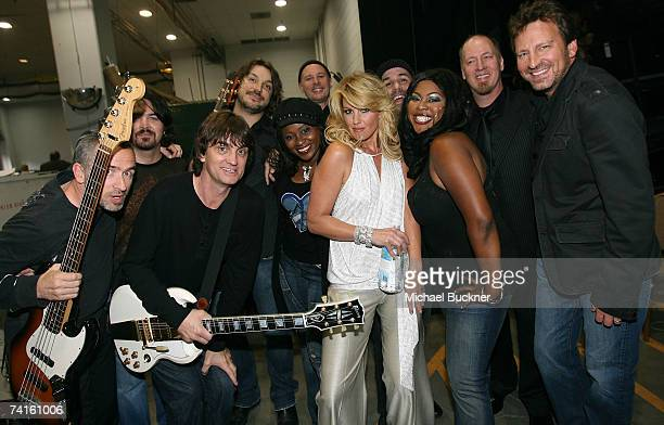 Singer Faith Hill poses with her band backstage at the 42nd Annual Academy Of Country Music Awards held at the MGM Grand Garden Arena on May 15 2007...