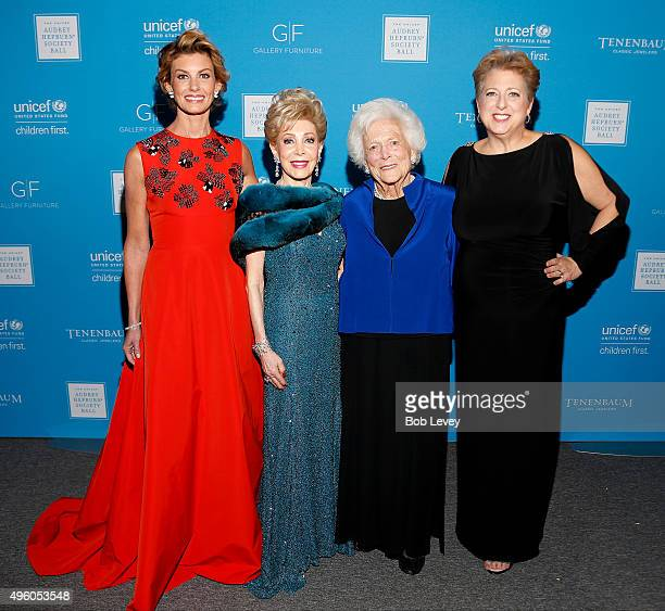 Singer Faith Hill, presenter Margaret Alkek Williams, honoree Barbara Bush and President & CEO U.S. Fund for UNICEF Caryl Stern attend the UNICEF...