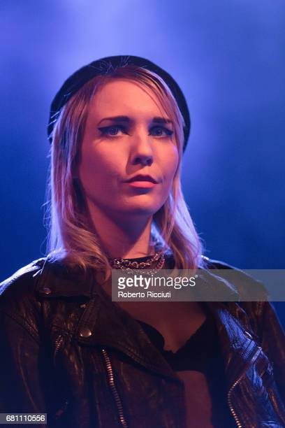 Singer Faith Holgate of Pins performs on stage at O2 ABC Glasgow on May 9, 2017 in Glasgow, Scotland.