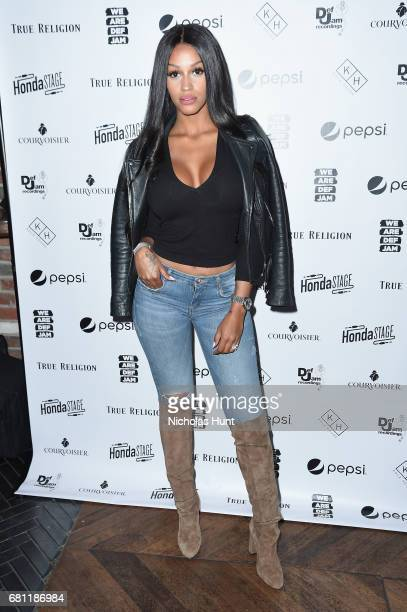 Singer Fanny Nguesha attends the 2017 Def Jam Upfronts presented by Honda Stage Pepsi Courvoisier and True Religion at Kola House NYC on May 9 2017...