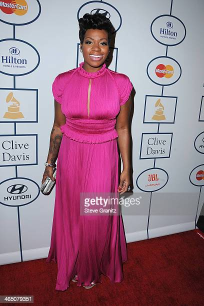 Singer Fantasia attends the 56th annual GRAMMY Awards PreGRAMMY Gala and Salute to Industry Icons honoring Lucian Grainge at The Beverly Hilton on...