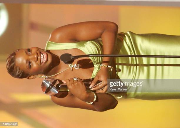 Singer Fantasia Barrino accepts the award for Top-Selling Single of the Year onstage during the 2004 Billboard Music Awards at the MGM Grand Arena on...