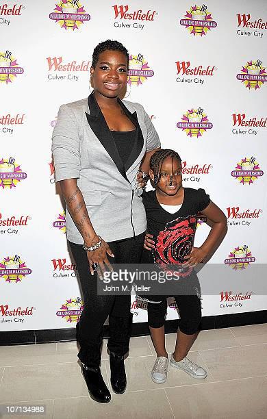 Singer Fantasia Barrino and daughter Zion Barrino attend Millions of Milkshakes on November 24 2010 in Culver City California