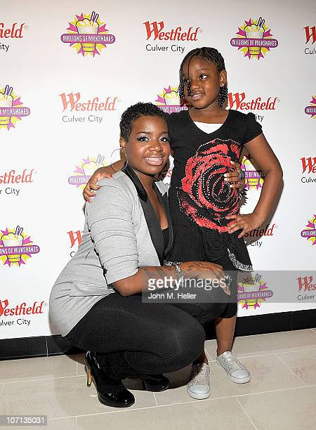 Singer Fantasia Barrino and daughter Zion Barrino attend Millions of Milkshakes on November 24 2010 in Culver City California