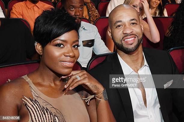 Singer Fantasia Barrino and guest attend the 2016 BET Awards at the Microsoft Theater on June 26 2016 in Los Angeles California