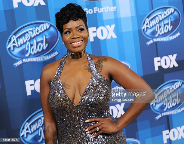 Singer Fantasia Barrino arrives at FOX's 'American Idol' Finale For The Farewell Season at Dolby Theatre on April 7 2016 in Hollywood California