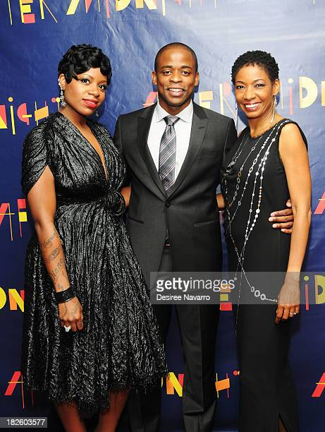"""Singer Fantasia, Dule Hill and Adriane Lenox attend the press preview for the Jazz at Lincoln Center All-Stars' """"After Midnight"""" at Dizzys Club..."""