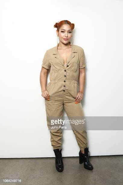 Singer Farina poses for a portrait during her new single release 'Lunes a Jueves' on November 2 2018 in Wynwood in Miami Florida