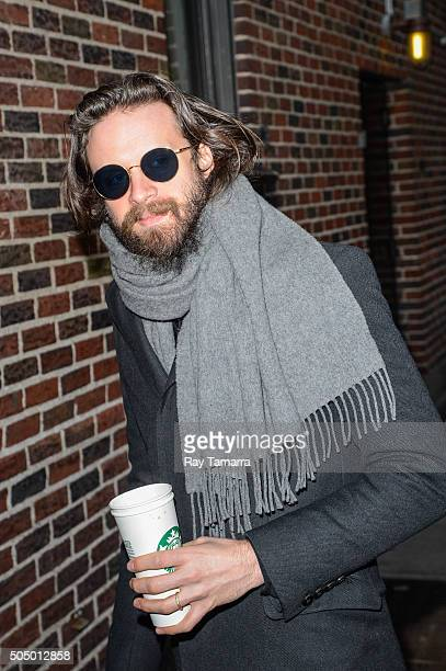 Singer Father John Misty enters the 'The Late Show With Stephen Colbert' taping at the Ed Sullivan Theater on January 14 2016 in New York City