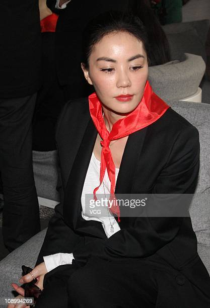 Singer Faye Wong attends film Cherish Our Love Forever Beijing premiere at Beijing Cinema Palace on February 10 2011 in Beijing China