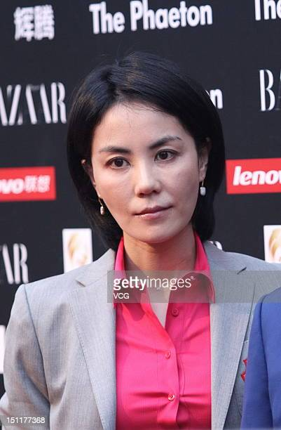 Singer Faye Wong attends the 2012 Bazaar Charity Night at 798 Art Zone on September 1 2012 in Beijing China