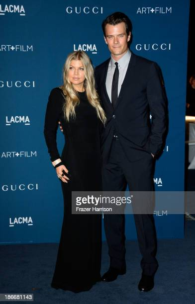 Singer Fergie and actor Josh Duhamel arrives at the LACMA 2013 Art Film Gala on November 2 2013 in Los Angeles California