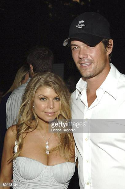 LAS VEGAS MARCH 27 Singer Fergie and actor Josh Duhamel at Fergie and Quentin Tarantino's birthday reception at Bare Pool Lounge at The Mirage Hotel...