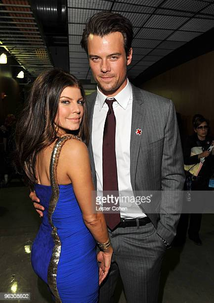 Singer Fergie and actor Josh Duhamel attend the 52nd Annual GRAMMY Awards held at Staples Center on January 31 2010 in Los Angeles California